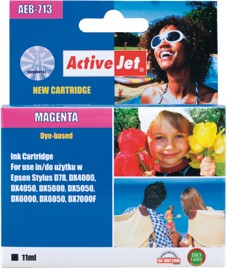 ActiveJet Ink cartridge Eps T0713 D78/DX6000/DX6050 Magenta - 15 ml AEB-713