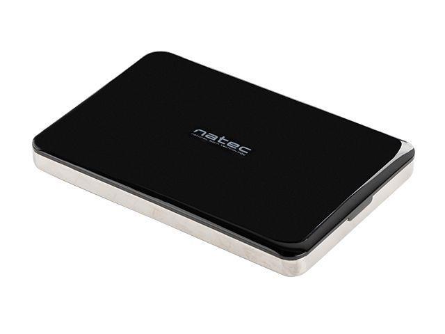Natec OYSTER 2 Externí box pro 2.5'' SATA HDD/SSD, USB 3.0, slim,hliníkový,černý NKZ-0716