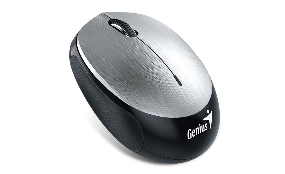 GENIUS NX-9000BT/ Bluetooth 4.0/ 1200 dpi/ bezdrátová/ dobíjecí baterie/ stříbrná