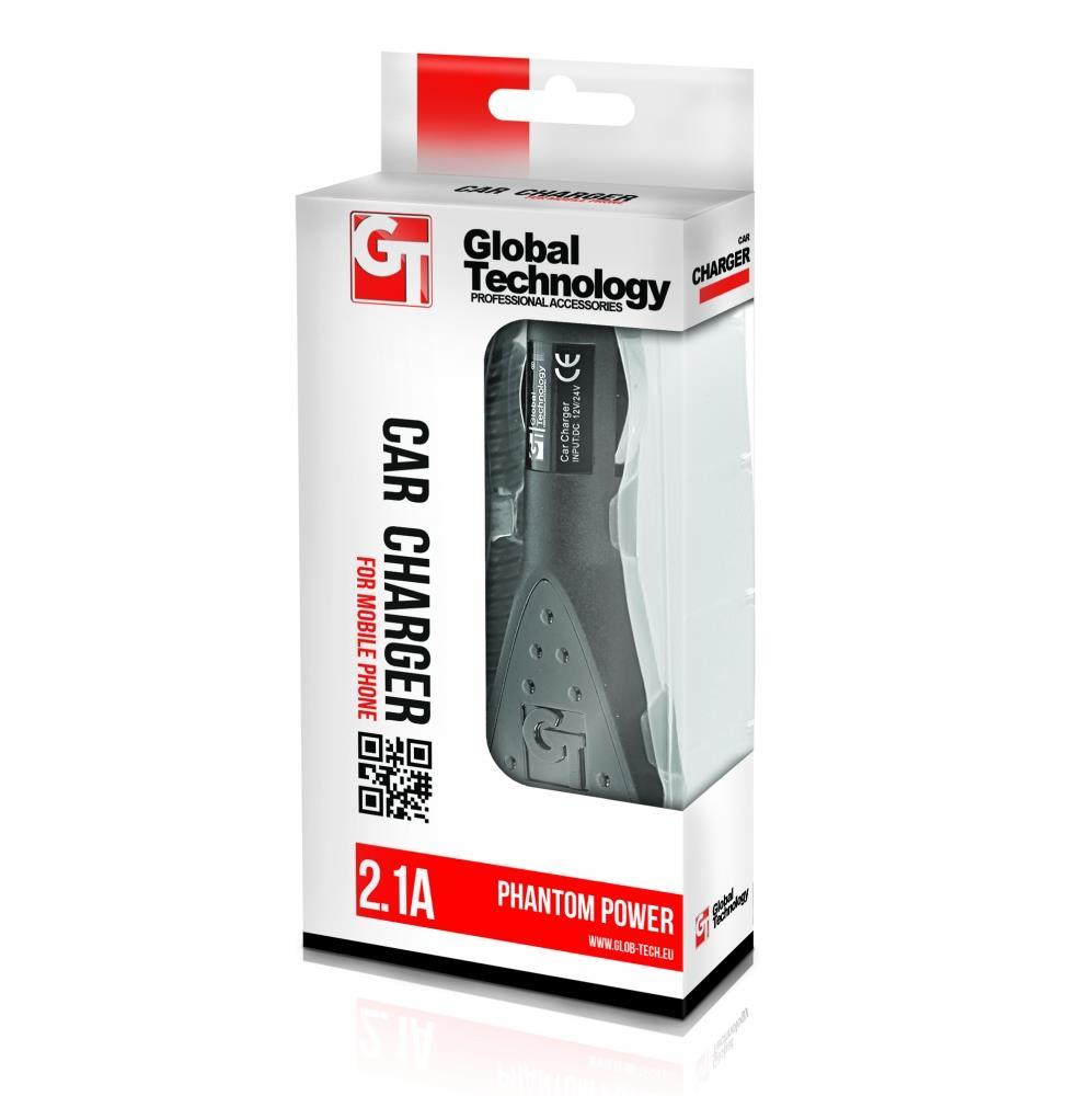 GT Phantom nabíječka do auta, univerzální, USB 3.0, 2.1A