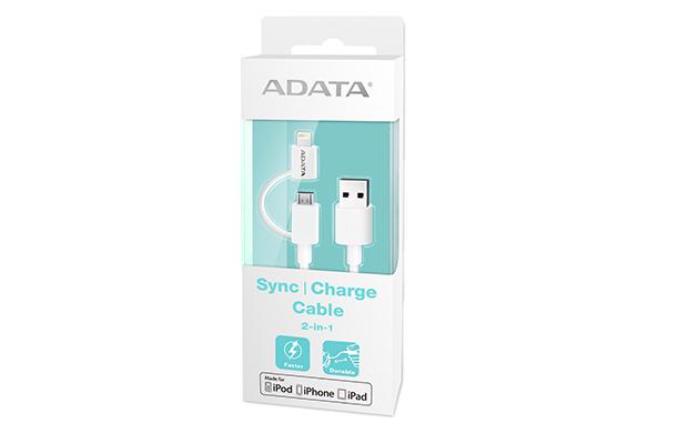ADATA Synchronizační a napájecí kabel, USB & microUSB, MFi (iPhone, iPad, iPod)