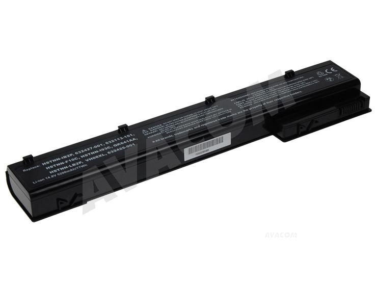 Náhradní baterie AVACOM HP EliteBook 8560w, 8570w, 8770w Li-Ion 14,8V 5200mAh /77Wh