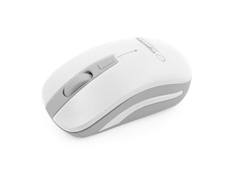 Esperanza EM126EW URANUS bezdrátová optická myš, 1600 DPI, 2.4GHz, bílo-šedá