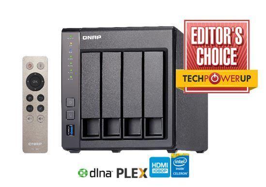QNAP TS-451+-2G, Tower, 4-bay NAS, Intel Celeron 2.0GHz QC, 2GB, 2 x GbE