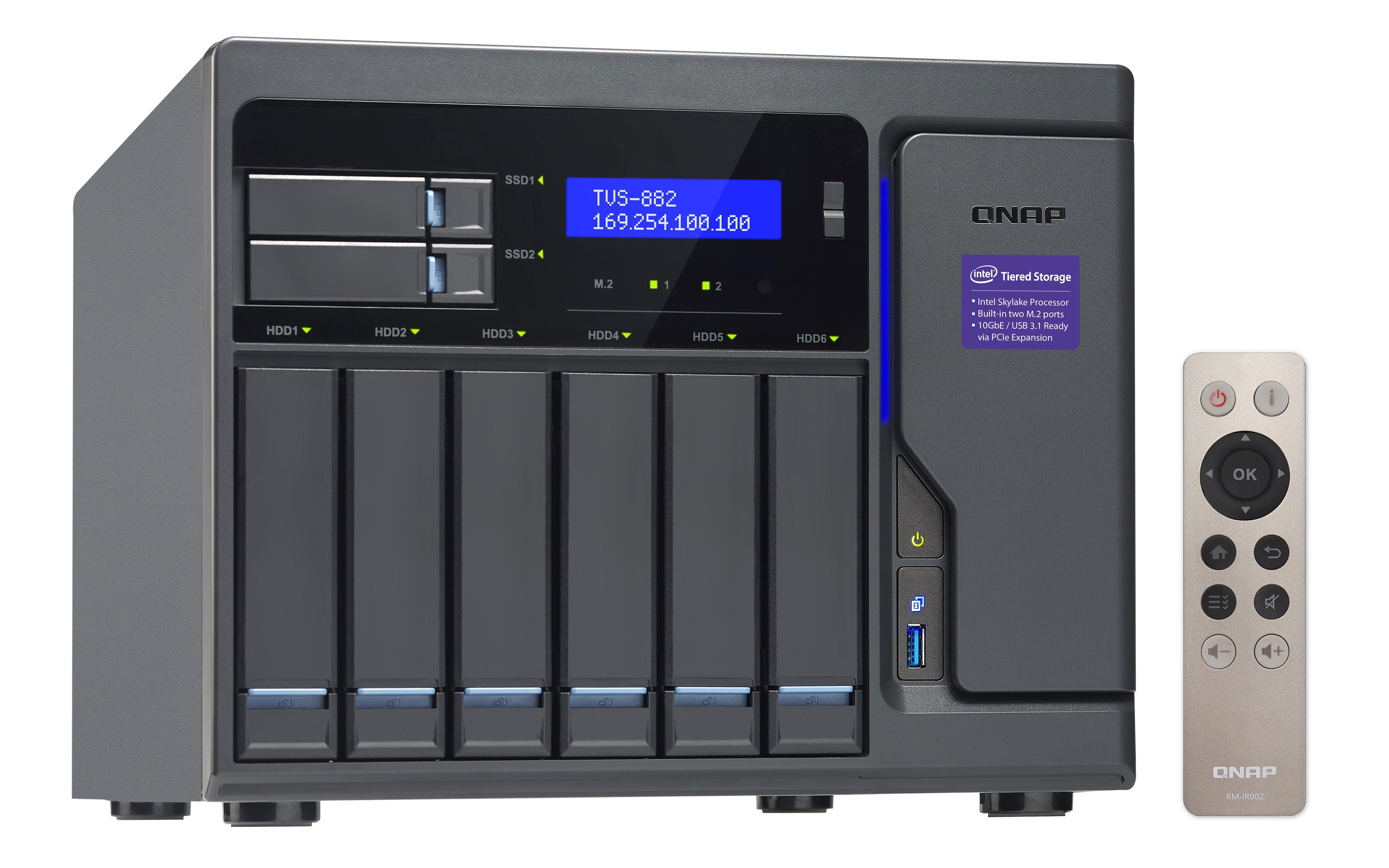 QNAP TVS-882-i3-8G (3,7G/8GB RAM/8xSATA/3xHDMI)