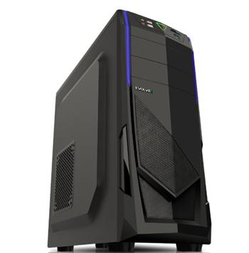EVOLVEO R04, case full ATX midi tower, 3x 120mm, 2x USB2.0, 1x USB3.0 černo modrý design