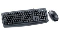 GENIUS klávesnice s myší KM-130/ Drátový set/ USB/ černý/ CZ+SK layout
