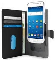 """Puro flipové pouzdro s nastavitelnými konzolami a přihrádkou na karty pro zařízení 4,7"""" (velikost L), černá"""
