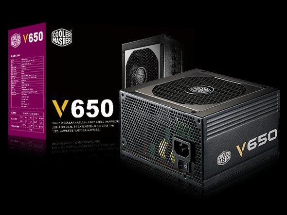 Cooler Master zdroj V650 Semi-Modular 650W, 80 Plus Gold