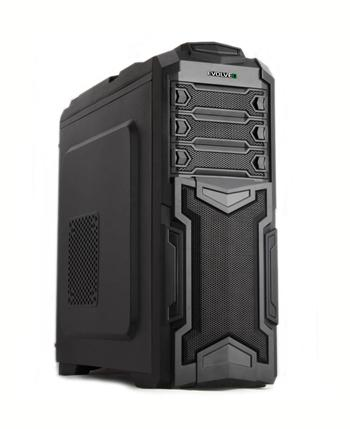 EVOLVEO Y01, case Herní full ATX midi tower, 5x 120mm větrák, 2x USB2.0, 2x USB3.0, 1x HD Audio, černo zelený design
