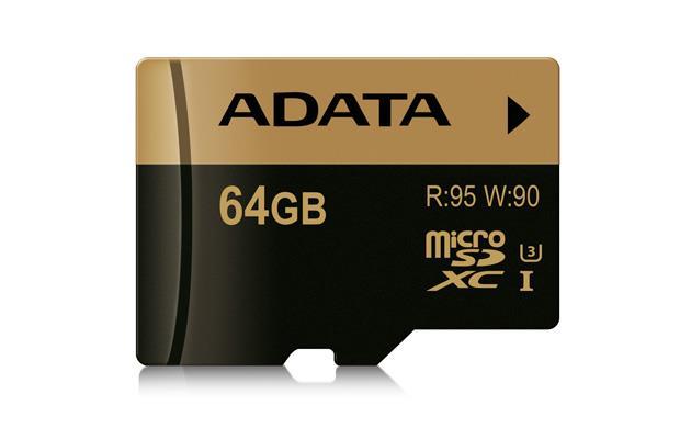 ADATA SDXC karta 64GB UHS-I U3 (95/90MB/s)