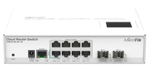 MikroTik CRS210-8G-2S+IN, 8port L3 rackm switch