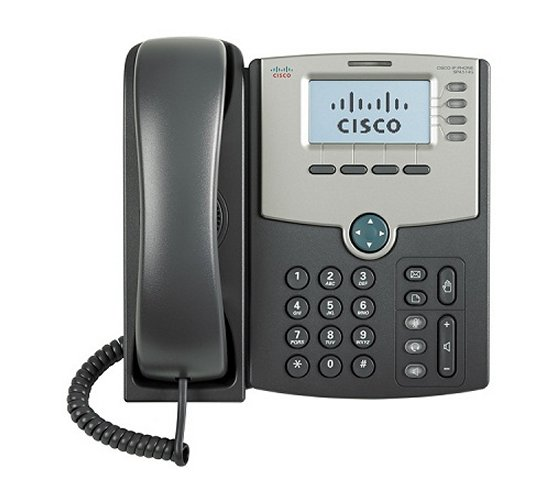 Cisco SPA514G IP Phone, 4 Voice Lines, 2x Gigabit Ports, High-Resolution Graphical Display, PoE Supp