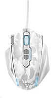 TRUST Myš GXT 155W Gaming Mouse - bílá kamufláž