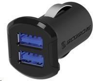 SCOSCHE nabíječka do auta reVolt 2,4 A, 2x podsvícený USB slot, černá