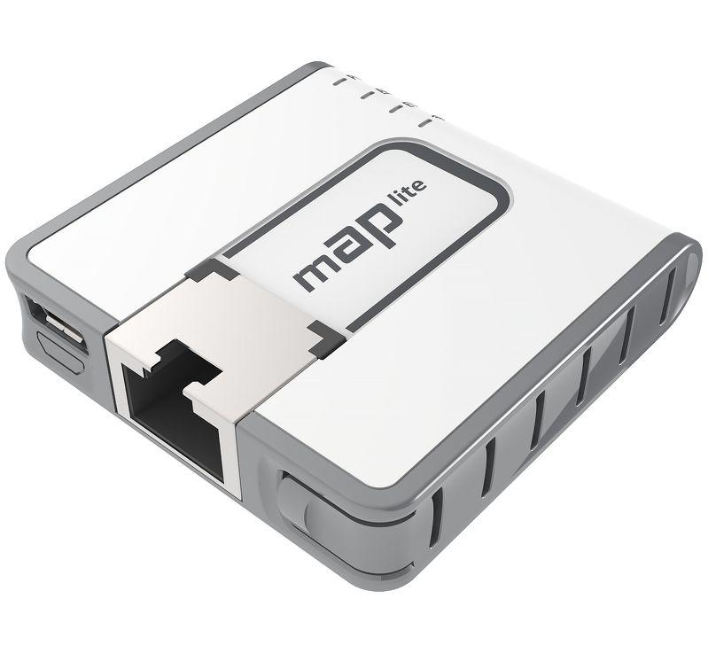 MikroTik RBmAPL-2nD, mAP lite, ROS L4, 1xLAN, plast. krabice, napájecí adaptér