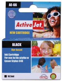 ActiveJet Ink cartridge Eps T066 C48 Bk - 10,5 ml AE-66