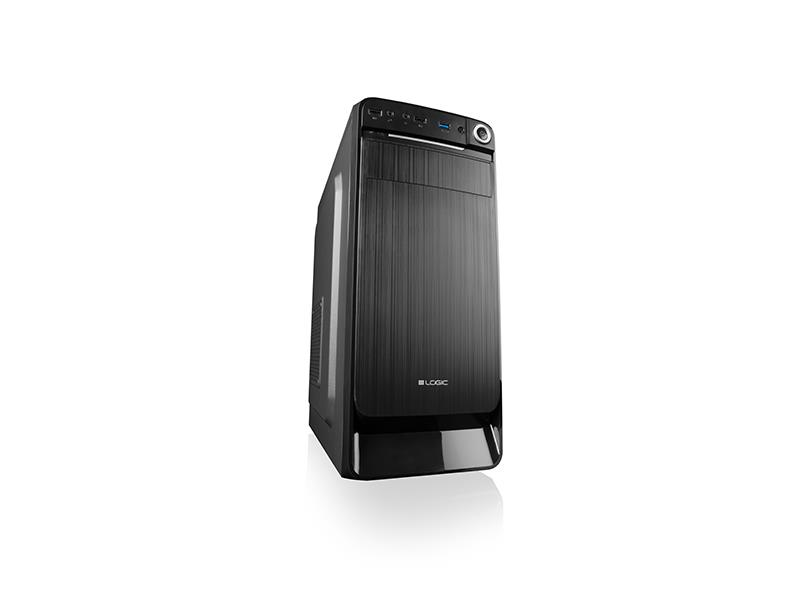 LOGIC PC skříň K3 Midi Tower, zdroj LOGIC 500W ATX PFC, USB 3.0 x 1/ USB 2.0 x 2