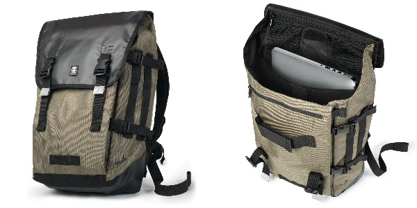 Crumpler Muli Backpack XL - black tarpaulin / khaki