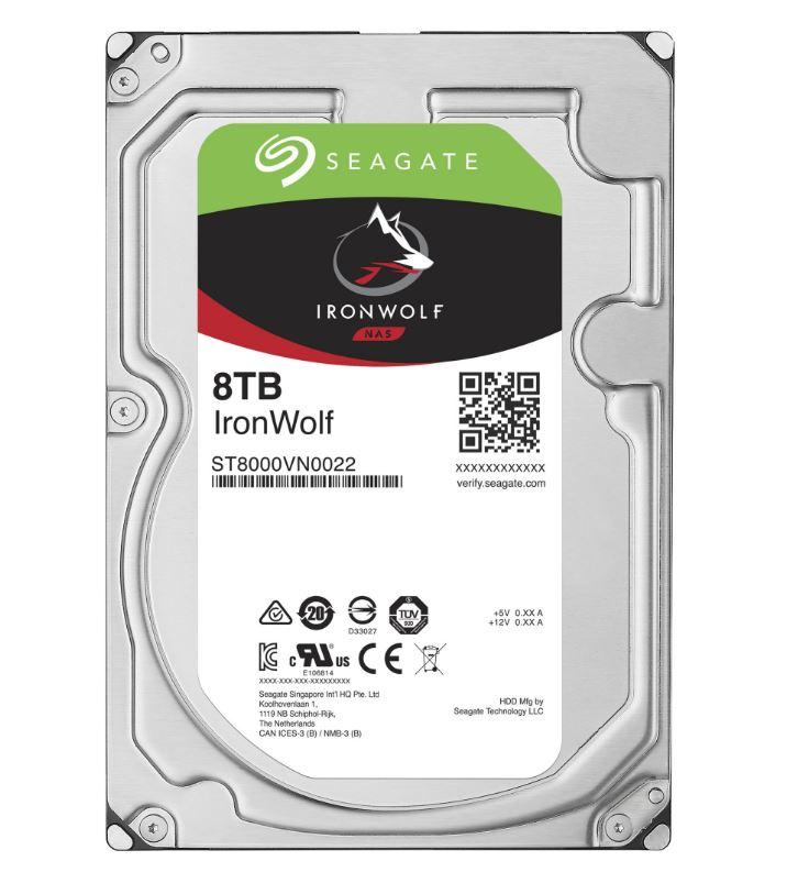 "Seagate IronWolf, NAS HDD, 8TB, 3.5"", SATAIII, 256MB cache, 7.200RPM"