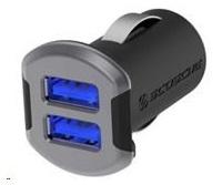 SCOSCHE nabíječka do auta reVolt 2,4 A, 2x podsvícený USB slot, černá/vesmírně šedá