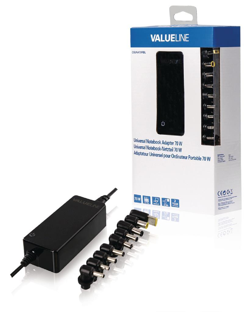 Valueline Univerzální adaptér pro notebooky, 70 W