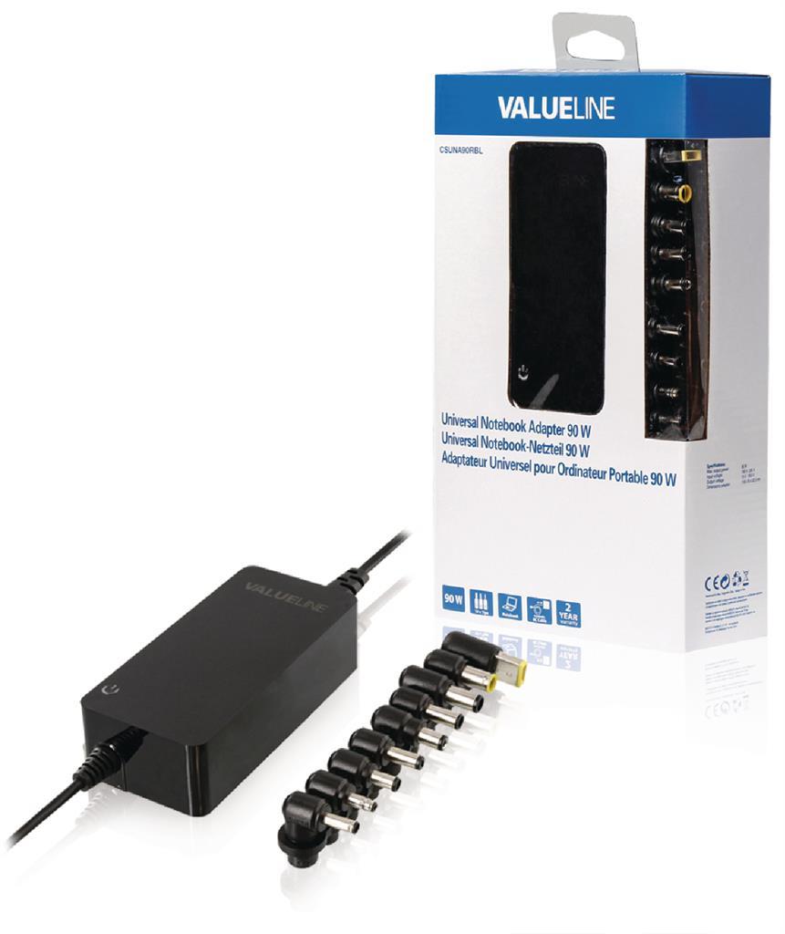 Valueline Univerzální adaptér pro notebooky, 90 W