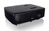 Optoma projektor DS349 (DLP, SVGA, FULL 3D, 3 300 ANSI, 20 000:1; HDMI, VGA, USB, 2W speaker)
