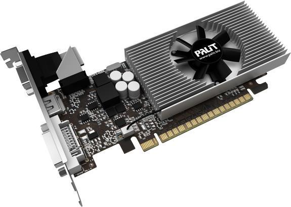 PALIT GeForce GT 730, 2GB SDDR3 (64 Bit), HDMI, DVI, D-Sub