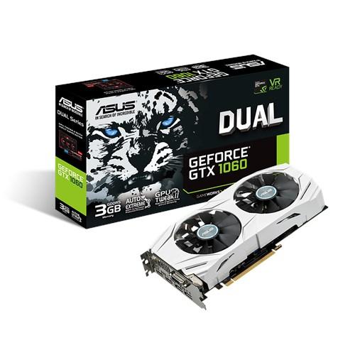 ASUS GeForce DUAL GTX 1060 3GB, 3GB GDDR5, HDMI/DP/DVI