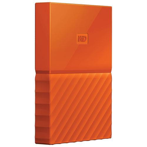 WD My Passport 2.5'' externí HDD 3TB, USB 3.0, oranžový
