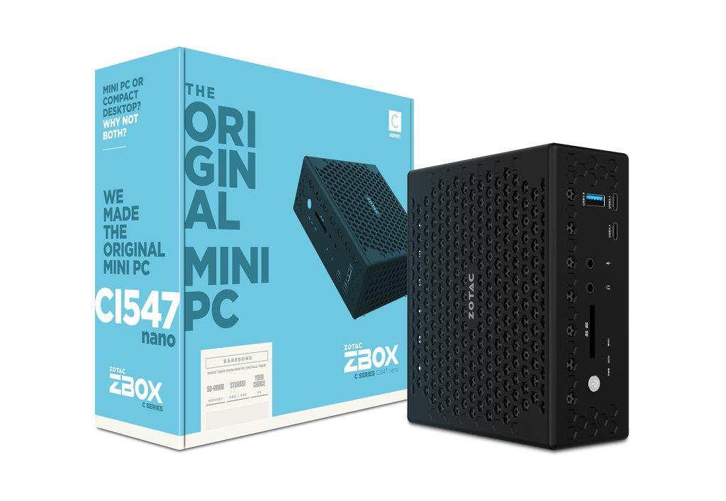 ZOTAC ZBOX CI547 NANO, i5-7200U, 2x DDR4-2133, SATA3, DP/HDMI