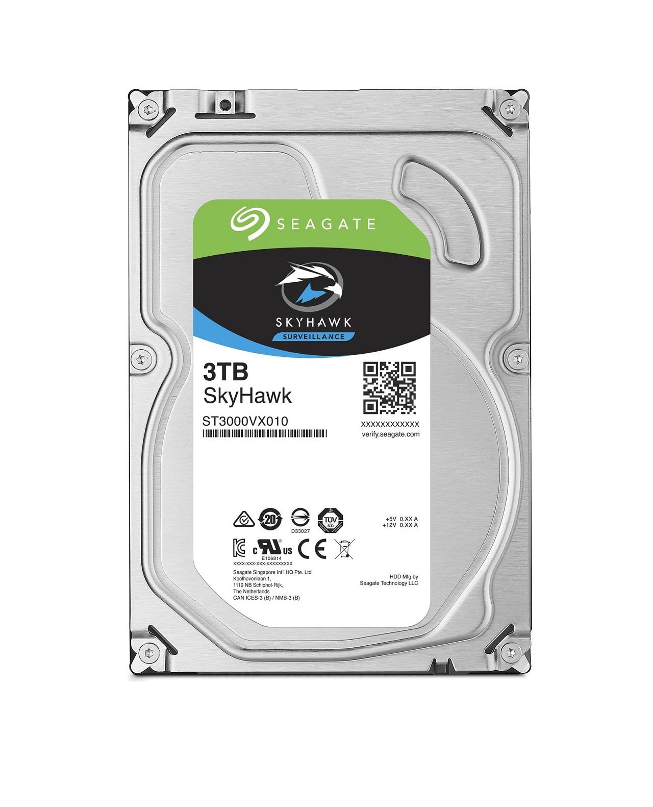 Seagate SkyHawk HDD, 3TB, SATAIII, 64MB cache, 5.900RPM