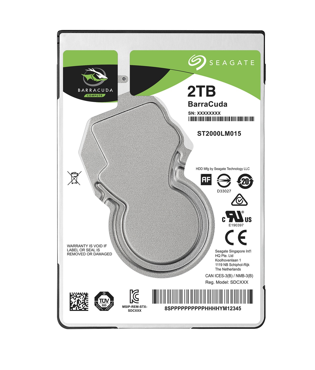 "SEAGATE HDD BARRACUDA 2.5"" 2TB, SATAIII/600 5400RPM, 128MB cache, 7mm"