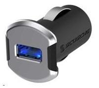 SCOSCHE nabíječka do auta reVolt 2,4 A, podsvícený USB slot, černá/vesmírně šedá