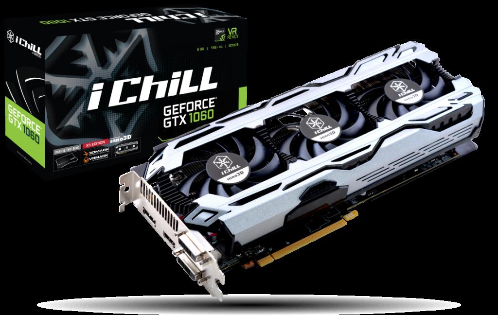 Inno3D iChill GeForce GTX 1060 6GB X3 V2, DVI-D, HDMI, DP
