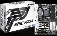 ASRock B250 Pro4, INTEL B250 Series,LGA1151,4 DDR4, 2xM.2 (1 for SSD, 1 WiFi)