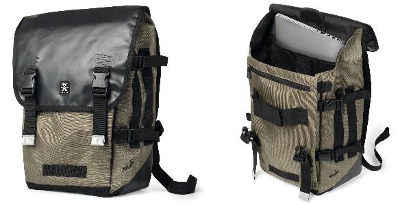 Crumpler Muli Backpack L - black tarpaulin / khaki