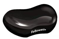Fellowes Podložka pod zápěstí CRYSTAL gelová černá