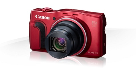 Canon PowerShot SX710HS, Red - 20MP, 30x zoom, 25-750mm, 3,0""