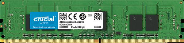 Crucial 4GB 2666MHz DDR4 CL17 SR x8 ECC Registered DIMM 288pin