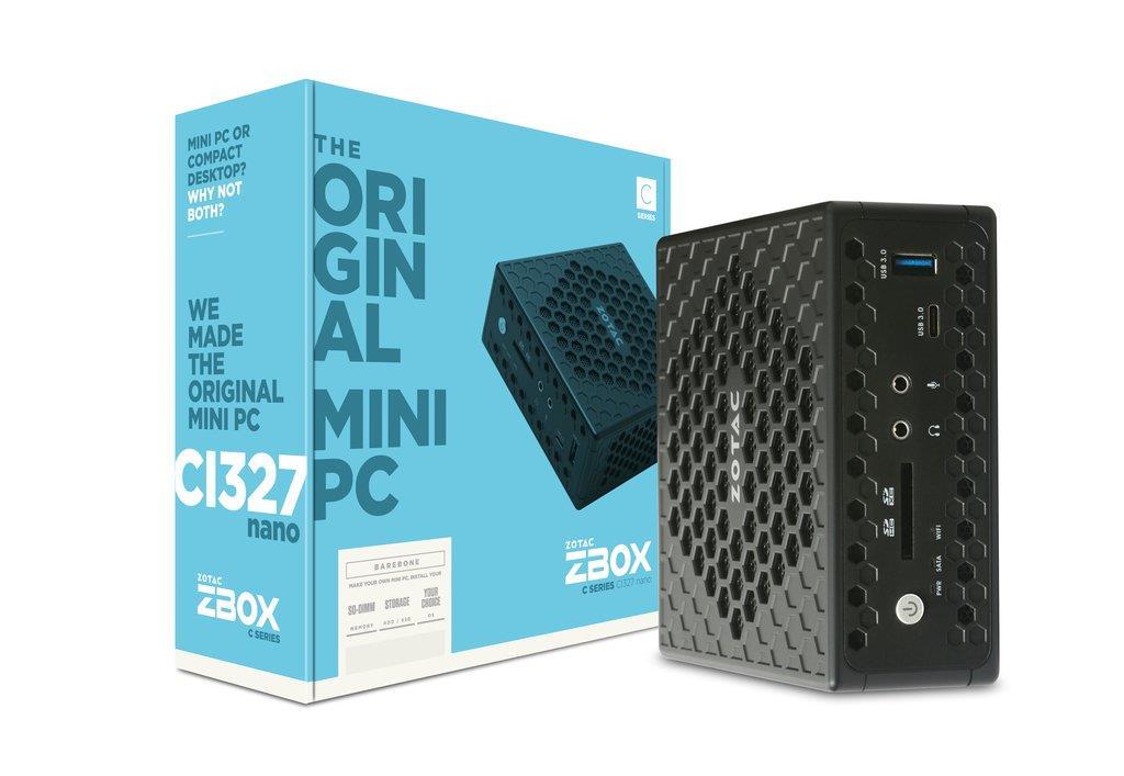 ZOTAC ZBOX CI327 NANO, Intel N3450, 2x SODIMM DDR3L-1866, SATA3, DP/HDMI/VGA