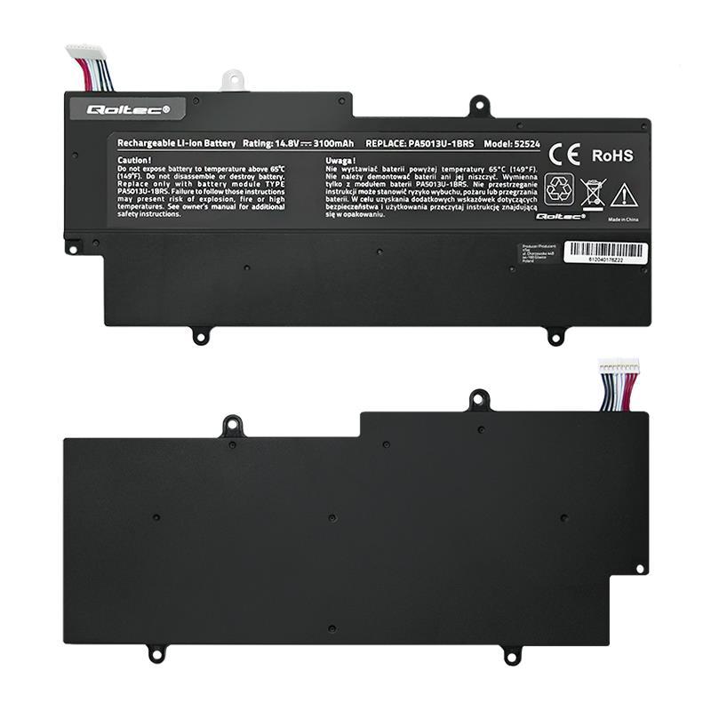 Qoltec Long Life baterie pro notebooky Toshiba Z930 Z935 | 14.4-14.8V | 3100mAh