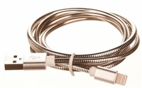 CELLFISH univerzální kabel kovový, Lightning, stříbrná