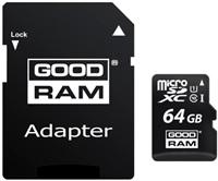 GOODRAM Micro SDXC card 64GB, Class 10, UHS-I + SD adapter