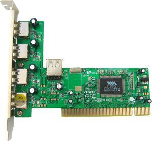 4World 5-portový řadič (4+1) USB 2.0 na kartě PCI