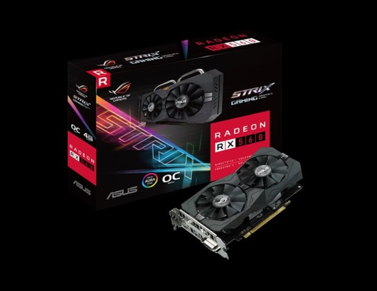 ASUS ROG-STRIX-RX560-O4G-GAMING 4GB GDDR5 (128 bit) ,HDMI, DVI, DP