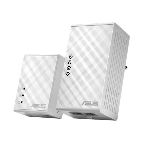 Retail!ASUS PL-N12 KIT 300Mbps AV500 Wi-Fi Powerline Ext(2ks)