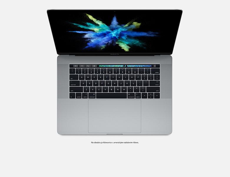 """Apple MacBook Pro 15,4"""" Touch Bar/IPS Retina 2880x1800/QC i7 2.8-3.8GHz/16GB/256GB_SSD/R Pro 555_2GB/CZ/Silver"""