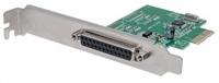 MANHATTAN Parallel PCI Express Card, One DB25 port, IEEE 1284